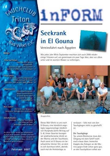 Seekrank in El Gouna - Tauchclub Triton - Bad Vilbel eV