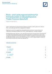 Preis- und Leistungsverzeichnis für Firmenkunden in ... - GTB