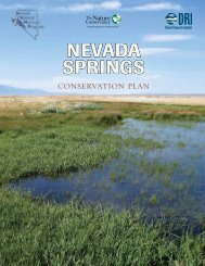 Springs Conservation Plan - The Nevada Department of ...