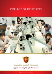 DMD Program Brochure - Gulf Medical University
