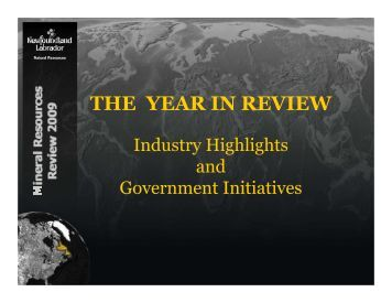 THE YEAR IN REVIEW - Department of Natural Resources