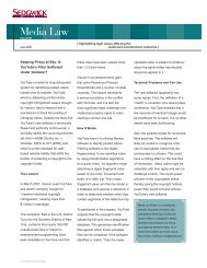 Download Full Newsletter in PDF Format - Sedgwick LLP