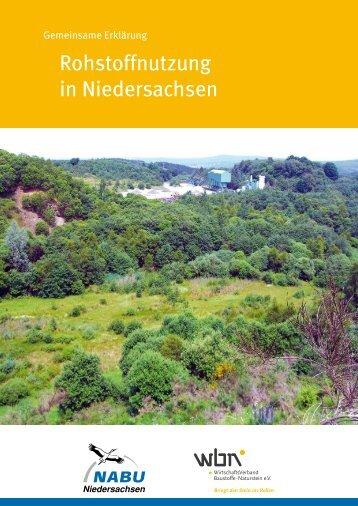 Rohstoffnutzung in Niedersachsen - Vero