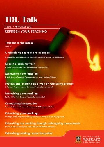 Refresh your Teaching - The University of Waikato