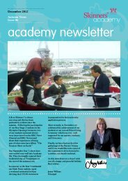 Newsletter 6: December 2012 - Skinners' Academy