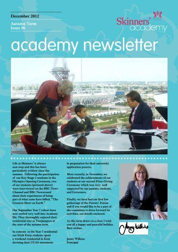 Newsletter 6: December 2012 - Skinners' Academy