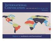 International - Wisconsin Alumni Association