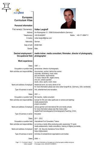 curriculum vitae europass franceza   psna net au
