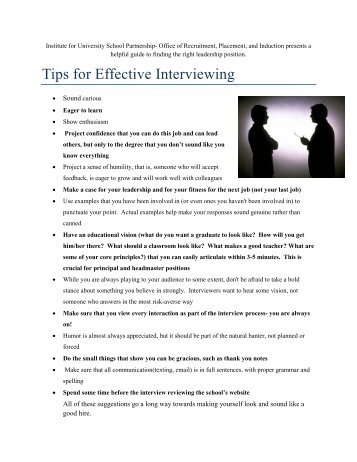 Interviewing Tips And Sample Questions (2).pdf   Institute For .  Interviewing Tips