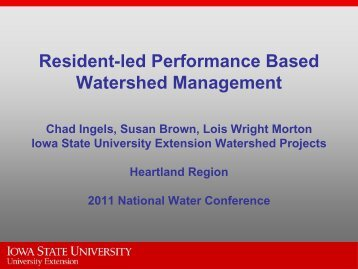 Resident-led Performance Based Watershed Management