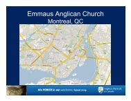 Emmaus Anglican Church - Anglican Network in Canada