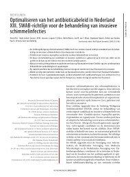 Invasieve schimmelinfecties richtlijn NTvG - SWAB