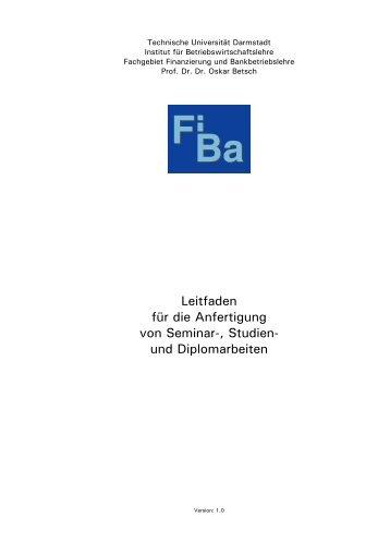 Fachbereich Rechts- und Wirtschaftswissenschaften - Technische ...