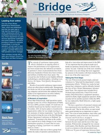 Bridge 26-4.indd - Michigan's Local Technical Assistance Program