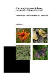 Arten- und Lebensraumförderung im regionalen Naturpark Gantrisch