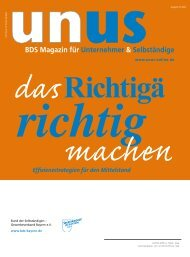 UNUS Ausgabe 03 / 2011 - Gewerbeverband Bayern eV