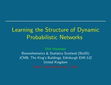Learning the Structure of Dynamic Probabilistic Networks