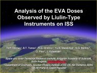 Analysis of the EVA Doses Observed by Liulin-Type ... - Wrmiss.org