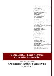 Spitzenkräfte – Kluge Köpfe für sächsische Hochschulen