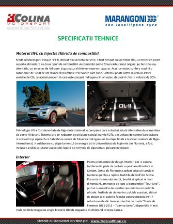Specificatii tehnice_MARANGONI EVOQUE HFI-R