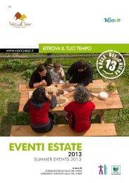 Libretto Eventi Estate 2013 - Ecomuseo Valle del Chiese