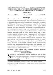Misr J. Ag. Eng., 26(3) - Misr Journal Of Agricultural Engineering ...