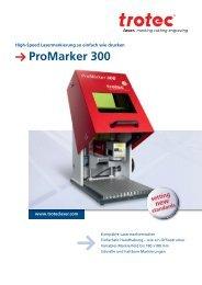 ProMarker 300 - Trotec Laser
