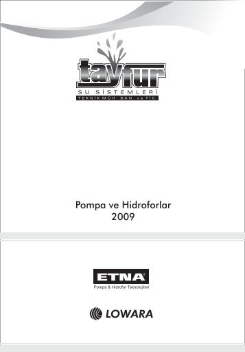 08 pompa ve hidroforlar.cdr - TAYFURSU