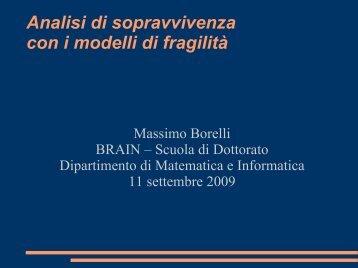 slides e materiali didattici del seminario - Dipartimento di ...
