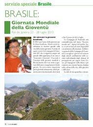 servizio speciale Brasile Giornata Mondiale della ... - Stimmatini