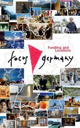 Funding and Locations - Focus Germany