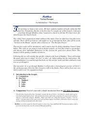 Matthew - Lesson 1 - Christian Fellowship Devotionals