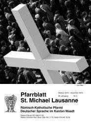Pfarrblatt St. Michael Lausanne Römisch-Katholische ... - Cath-vd.ch