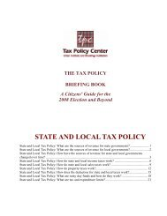 STATE AND LOCAL TAX POLICY - Tax Policy Center