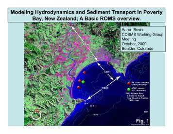 Modeling Hydrodynamics and Sediment Transport in ... - CSDMS
