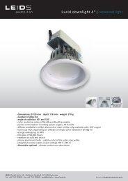 "Lucid downlight 4"" | recessed light - LEIDS"