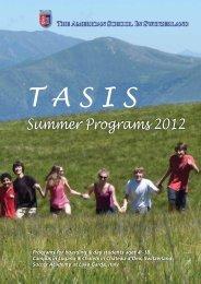 Summer Programs 2012 - TASIS