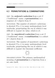 Combinations & Permutations Handout