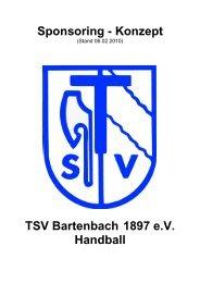 Sponsoring - Konzept - TSV Bartenbach eV