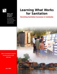 Learning What Works for Sanitation - WSP