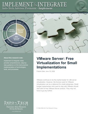 VMware Server: Free Virtualization for Small Implementations
