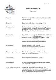 KANTONALMATCH - Zuger Kantonal-Schützen-Verband