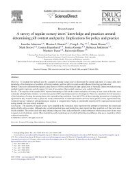 A survey of regular ecstasy users' knowledge and practices around ...
