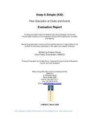 Keep It Simple (KIS) Evaluation Report - Democracy, Cities & Drugs II