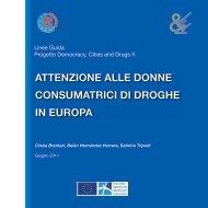 attenzione alle donne consumatrici di droghe in europa