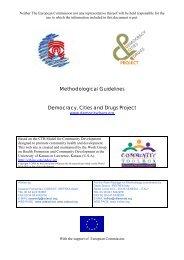 Methodological guidelines. - Democracy, Cities & Drugs II