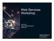 Web Services Workshop - Sybase