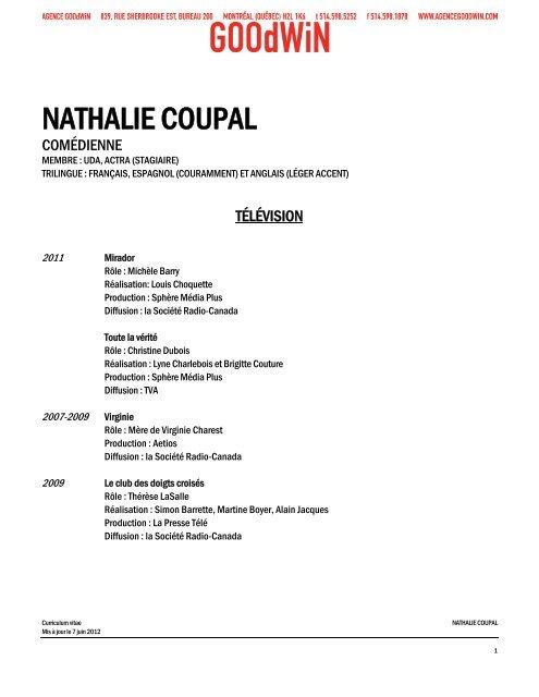 NATHALIE COUPAL - Agence Goodwin