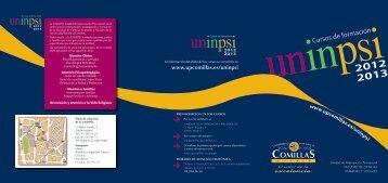Cursos 2012-2013 - Universidad Pontificia Comillas