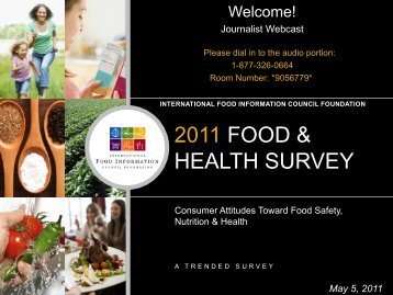 2011 food & health survey - International Food Information Council ...